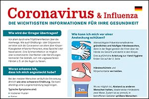 "Informations-Flyer ""Coronavirus"" Deutsch (PDF)"