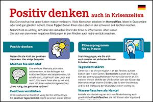 "Informations-Flyer ""Positiv denken"" Deutsch (PDF)"