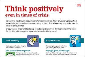 """Informations-Flyer """"Positiv denken"""" Englisch (PDF)"""