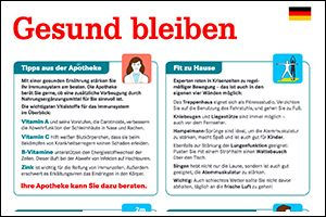 """Informations-Flyer """"Gesund bleiben"""" Deutsch (PDF)"""