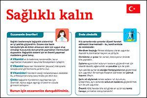 """Informations-Flyer """"Gesund bleiben"""" Türkisch (PDF)"""