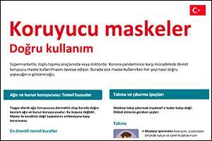 """Informations-Poster """"Schutzmasken"""" Türkisch (PDF)"""