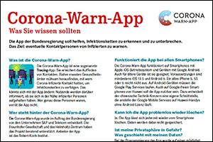"Informations-Flyer ""Corona-Warn-App"" (PDF)"