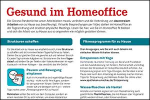 """Informations-Flyer: """"Gesund im Homeoffice"""" (PDF)"""