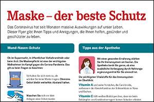 "Informations-Flyer ""FFP2-Masken"" (PDF)"